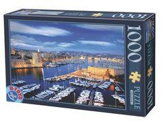 Puzzle D-Toys Puerto de Marsella, Francia de 1000 Piezas