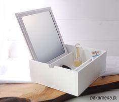 dodatki - lustra-Toaletka - BOX, duża, drewniana, biała