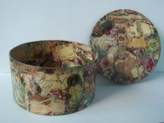 Round+Decoupage+Box+Paper+Mache+Victorian+Era+Motif+by+2lewa