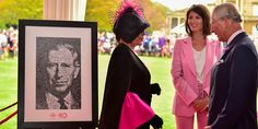 Our #celebrity ambassadors Joan Collins DBE and Gemma Arterton presented HRH with a portrait made up of hundreds of photos of our supporters from the past 40 years at a special event yesterday. It's an amazing piece of artwork, don't you think? #partofPT #TrustAt40