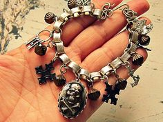 Pirate Bracelet, Skull And Crossbones Bracelet, Pirate Jewelry, Pirate Garb…