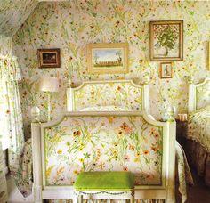 Nancy Lancaster - The Coach House - Guest Bedroom