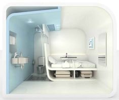 This Bubble is designed to be a Micro Hotel pod to be placed in airports for stranded passengers.  The idea is to have  a self contained unit that allows the occupants to have a quite space that meets their needs.  at 7 meters squared it is just the right size.  They have a few models: single bed, single bed with bathroom and a family version.