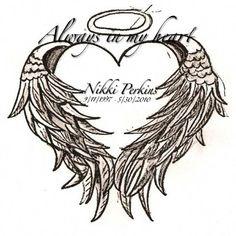 Love the angel wings. Alas Tattoo, Rip Tattoo, Tattoo For Son, Grandma Tattoos, Daddy Tattoos, Family Tattoos, Tatoos, Badass Tattoos, Body Art Tattoos
