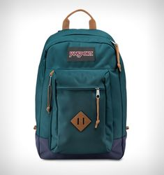 The JanSport Reilly is the ultimate backpack - stylish, durable and endlessly roomy. Premium Cordura fabric construction. One large main compartment f
