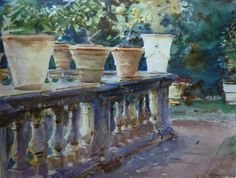John Singer Sargent watercolors.