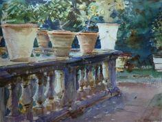 John Singer Sargent watercolors.