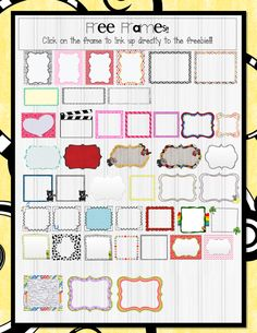 The 3AM Teacher Free Frames PDF Linky.
