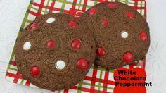 Homemade White Chocolate Peppermint M&M Cookies Recipe!