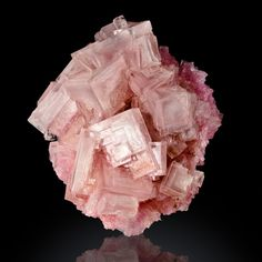 "2.5"" Sharp Bright Pink Phantom HOPPERED HALITE Crystals Searles Lake CA for sale - $100"