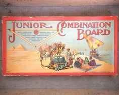 Antique Junior Combination Board Game 4927 by RosaMeyerCollection