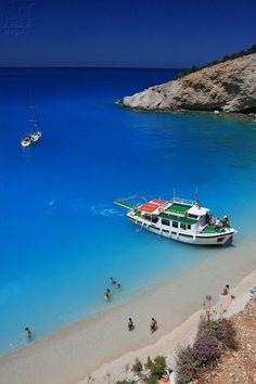 Stunning #PortoKatsiki, #Lefkada, Ionian Sea #Vasilikí  #Greece      www.booking.com/landmark/gr/porto-katsiki.en-gb.html?aid=305842&label=pin