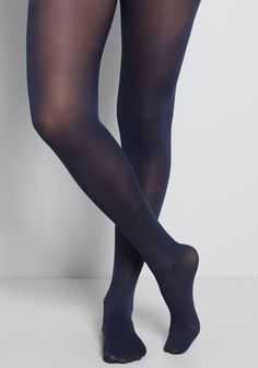 Enjoying your favorite warm-weather clothes year 'round is a cinch now that you've welcomed these navy blue tights into your wardrobe! These semi-sheer stockings in a very versatile shade wear wonderfully with your feminine floral dresses and look gamine- Navy Blue Tights, Black Opaque Tights, Grey Tights, Black Pantyhose, Floral Tights, Colored Tights, Sheer Tights, Look Gamine, Pantyhose Outfits
