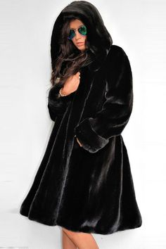 Equipped with virtually all you'd need- faux fur, long sleeve, with hood. Faux Fur Collar, Fur Collars, Fur Cape, Blouse Styles, Hoods, Long Sleeve, Fashion Design, Women, Capes