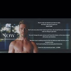 NOW Derek Hough, How To Find Out, How To Make, Faith In Humanity, Right Now, Wasting Time, No Worries, The Past, Positivity