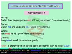 Learn Tagalog/Filipino Language