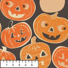 Retro pumpkin fabric - sew some Spooktacular decorations - Pumpkintopia from StitchCraft Boca