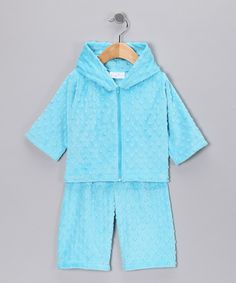 Love this Turquoise Minky Zip-Up Hoodie & Pants - Infant & Toddler by Bebe Bella Designs on #zulily! #zulilyfinds