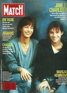 Paris Match N°2021 Jane et Charlotte,Chagall 1988