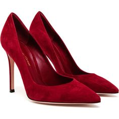 GIANVITO ROSSI Suede Pointed Pumps found on Polyvore