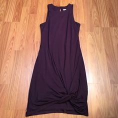 sleeveless purple tie dress awesome condition! has the knot tie at the bottom - this style is so in right now! very firm fitting fit  Trina Turk Dresses Midi