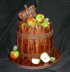 Autumn Apple Barrel Cake | Autumn Cakes