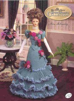 139. Barbie fashion doll dress-crochet pattern in pdf by Vandihand on Etsy