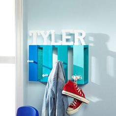 Keep your kids' rooms organized and their clothes off the floor with this fun and trendy Wood Pa...