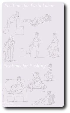 Beautiful & helpful labor position printouts from @Luschka van Onselen and JoniRae.com.