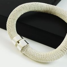 Silver mesh bracelet from our Milena Zu collection