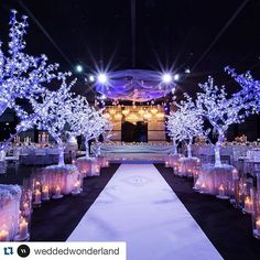 """#Repost @weddedwonderland ・・・ Every now and then a bride may ask for something completely different, and in this case, she wanted a winter themed wedding. We had to thus create a winter scape that was rich and colourful, and while it had an """"icy"""" feel, it still had to have colour and warmth, balancing between two opposing sensations, and pulling it off to create a truly dramatic and memorable wedding - @carousel_weddings_events #bridetobe #wedding #amazing #candles #florals #weddedwonderland"""