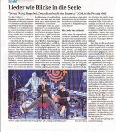 [Rock] Thomas Godoj - Akustikalbum V'Stärker Aus! - VÖ 25. September 2015 - Seite 74 - IOFF