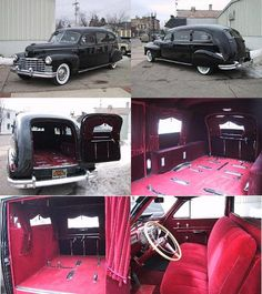 1946 Cadillac Hearse ~ The perfect get away car for a wedding.