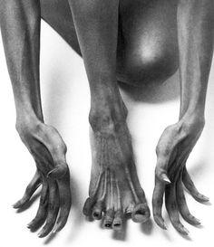 a dancer's feet- like an artist's hands