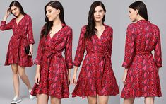 Myntra offers a wide range of Casual Dresses in various shapes. Best Casual Dresses, Ikkat Dresses, Frock Design, Gladiators, Cuff Sleeves, Chilling, Day Dresses, Red And Pink, Frocks