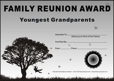 family reunion ideas family reunion certificates my parents win this one