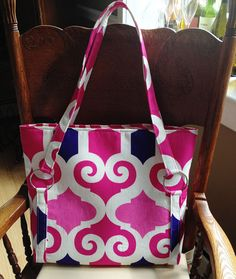 """I think I will make this bag in the theme of """"beach bag"""". I have a fabulous beachy fabric for the contrast straps... just to purchase the main fabric.. or more of one I just have scraps left of"""