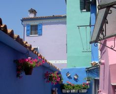What colors!! These are the colors of Burano