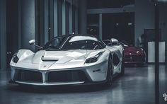 Ferrari LaFerrari, supercars, 2017 cars, white LaFerrari, italian cars, Ferrari
