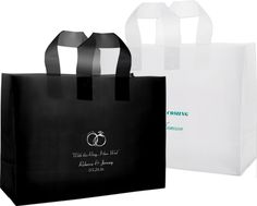 Frosted Vogue Shopping Bags