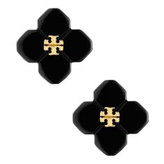 BABYLON RESIN STUD EARRING ❤ liked on Polyvore featuring jewelry, earrings, accessories, tory burch jewellery, stud earring set, resin earrings, stud earrings and resin jewelry
