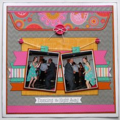 layout by Scrappy Chick using CTMH Dream Pop paper