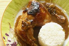 Slow-cooked chicken adobo -  I Love some Filipino food.  Yummy!!!