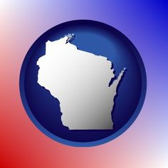 Wonderful Wisconsin map icon.