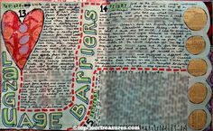 barriers art journal page, zoe ford