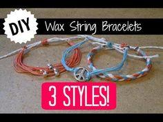 3 DIY Wax String Friendship Bracelets | Tutorial Inspired by Pura Vida Bracelets! - YouTube