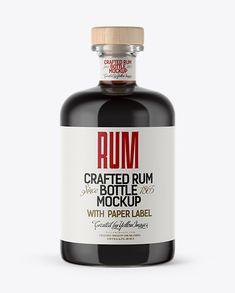 Black Rum Bottle Mockup (Preview)