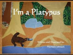 "A reading of the book ""I'm a Platypus"" by Moment Johnson. Learn about Platypuses while you listen to this story. Plato is a platypus who lives on the island . Australia Animals, Reading Street, Creative Curriculum, Tasmanian Devil, Platypus, Recycled Fabric, Read Aloud, Paper Shopping Bag, The Book"