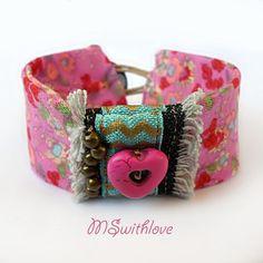 Valentine's day jewelry gypsy bracelet handmade by MSwithlove