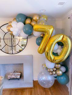 Number Balloons, Foil Balloons, Balloon Bouquet, Balloon Garland, Desi Wedding Decor, Wedding Decorations, Buttercream Birthday Cake, Birthday Balloon Decorations, Paper Fans